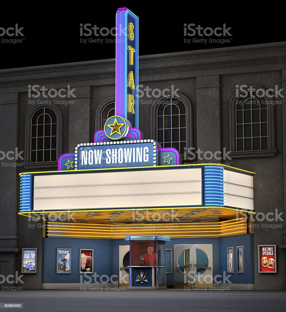 Classic Movie Theatre stock photo