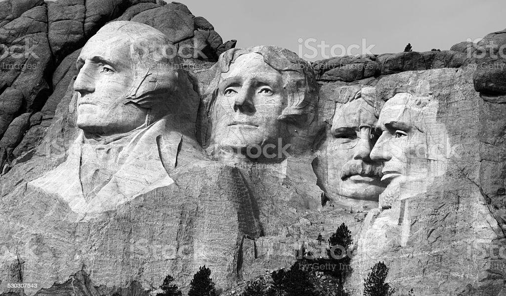 Classic Mt. Rushmore stock photo