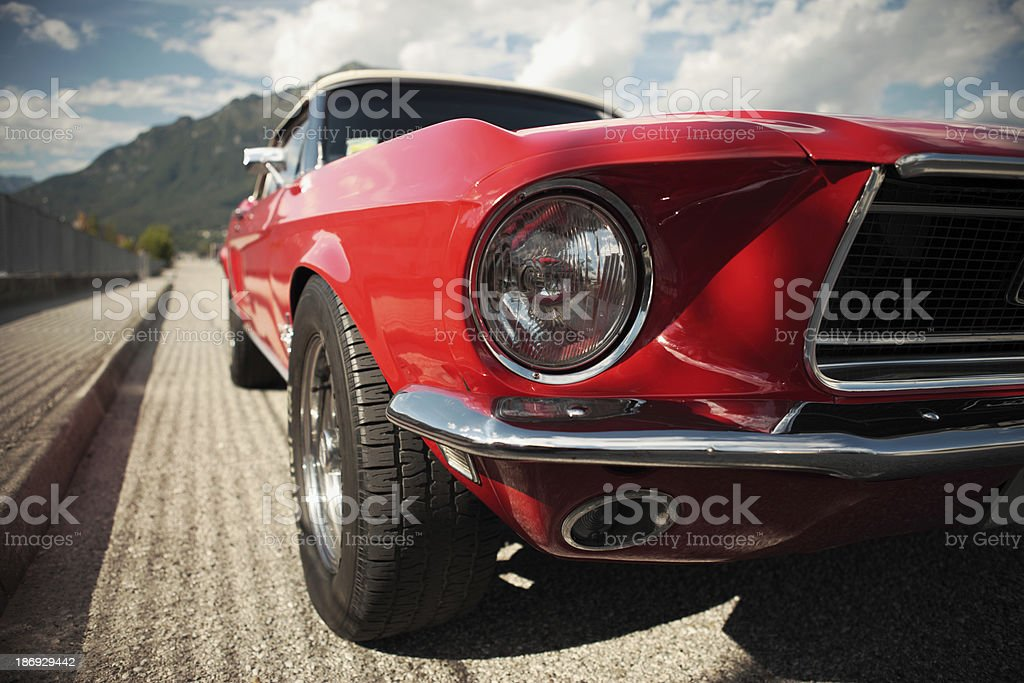 Classic Muscle Car stock photo