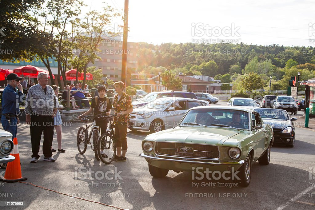 Classic Mustang stock photo
