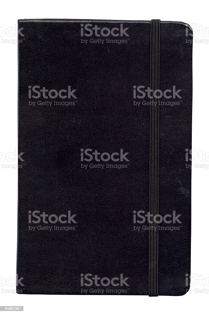 Classic notebook front cover stock photo