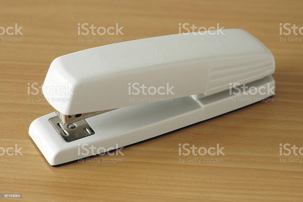 Classic office stapler stock photo