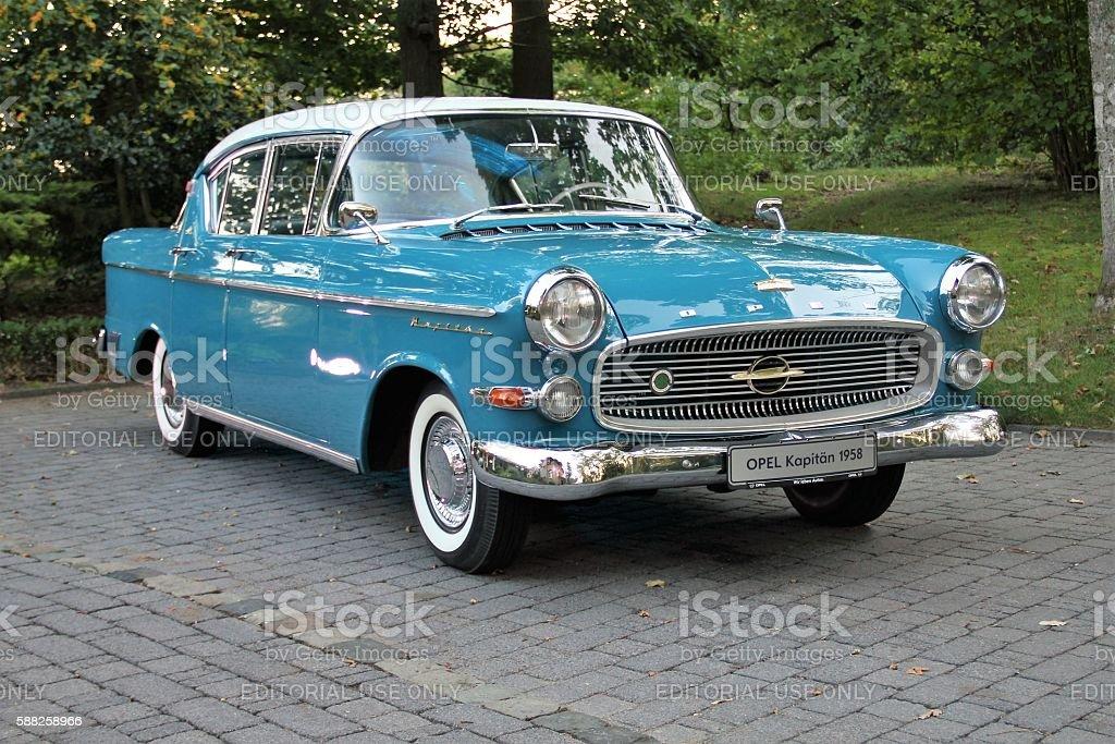 Classic Opel Kapitan stock photo