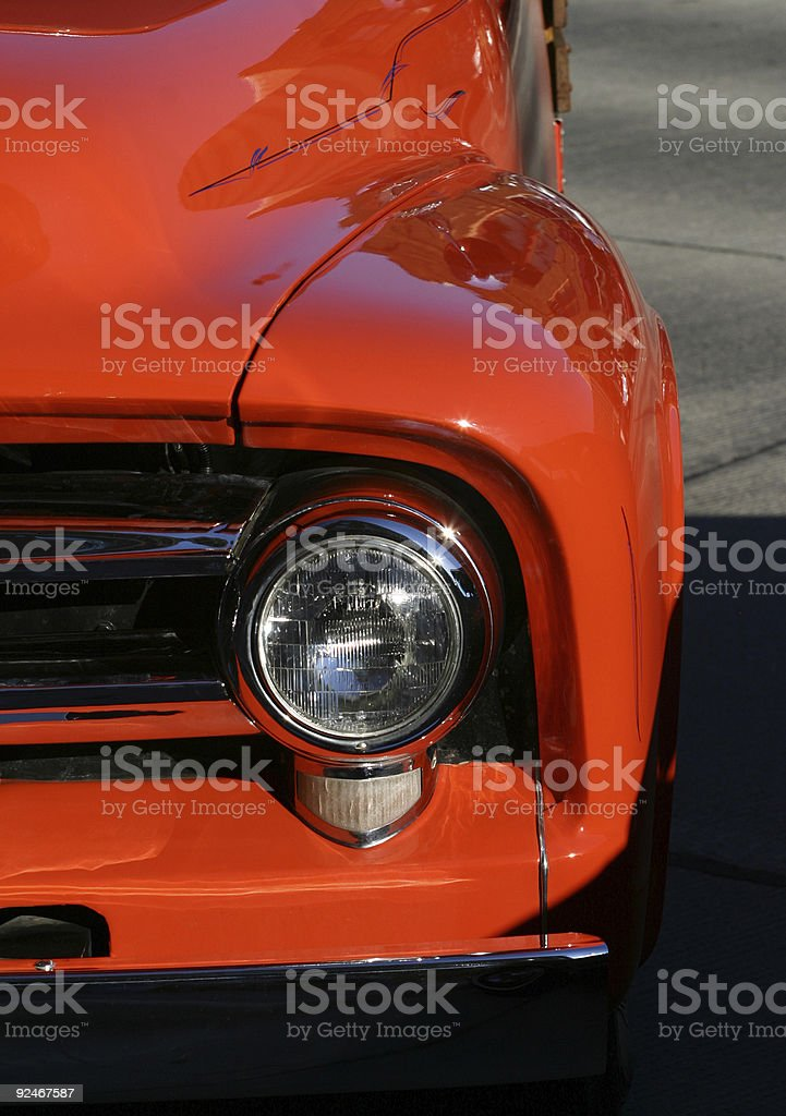 Classic Orange Truck royalty-free stock photo