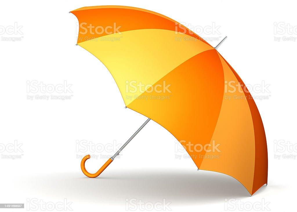 Classic orange umbrella royalty-free stock photo