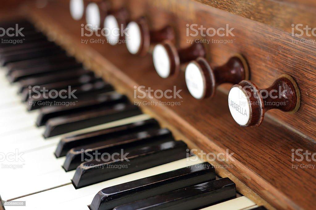 Classic organ stock photo