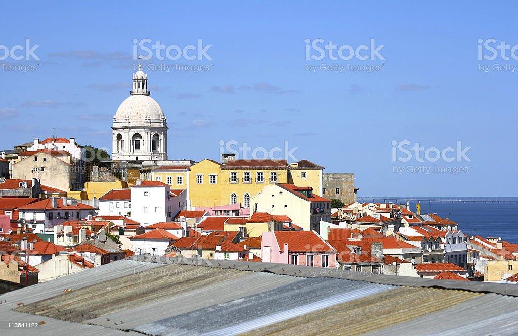 Classic panorama of Lisboa royalty-free stock photo