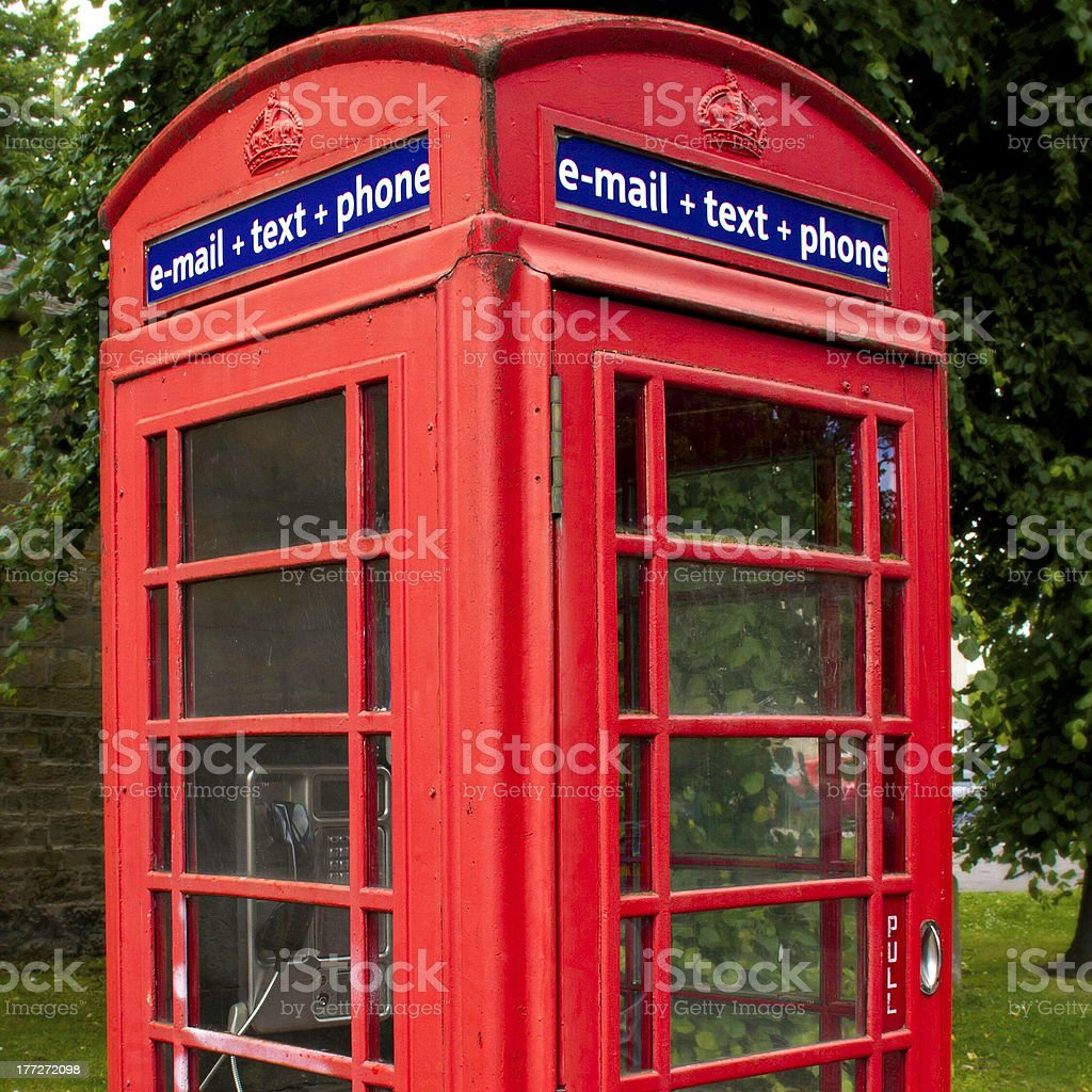 Classic phone booth royalty-free stock photo