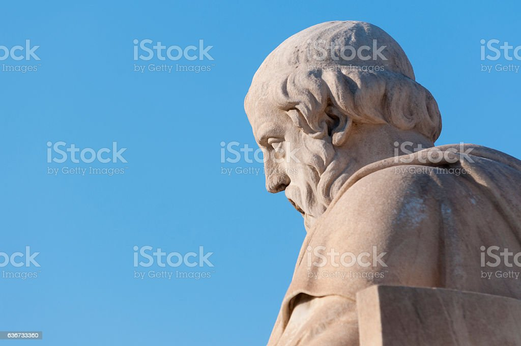 classic Plato statue stock photo