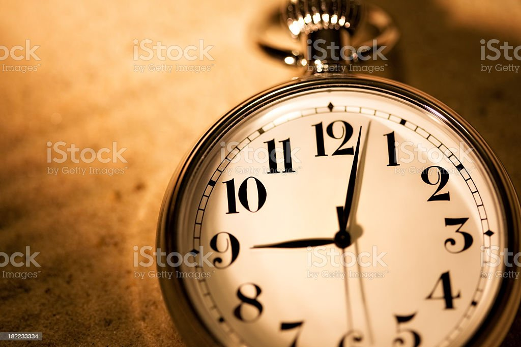 Classic pocket watch royalty-free stock photo