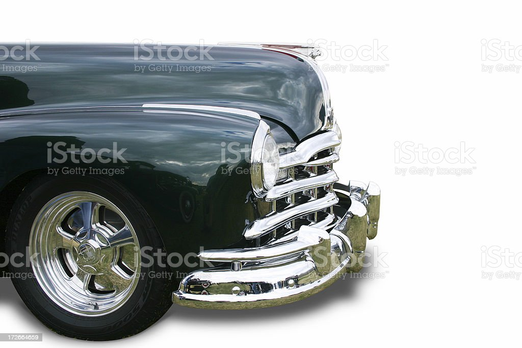 Classic Pontiac (path included) royalty-free stock photo
