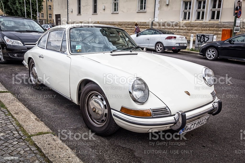 Classic Porsche 911 E stock photo