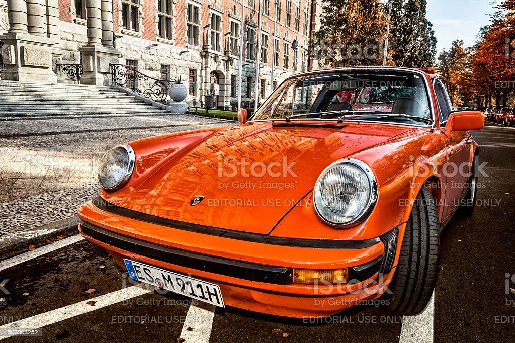 Classic Porsche 911 Targa stock photo