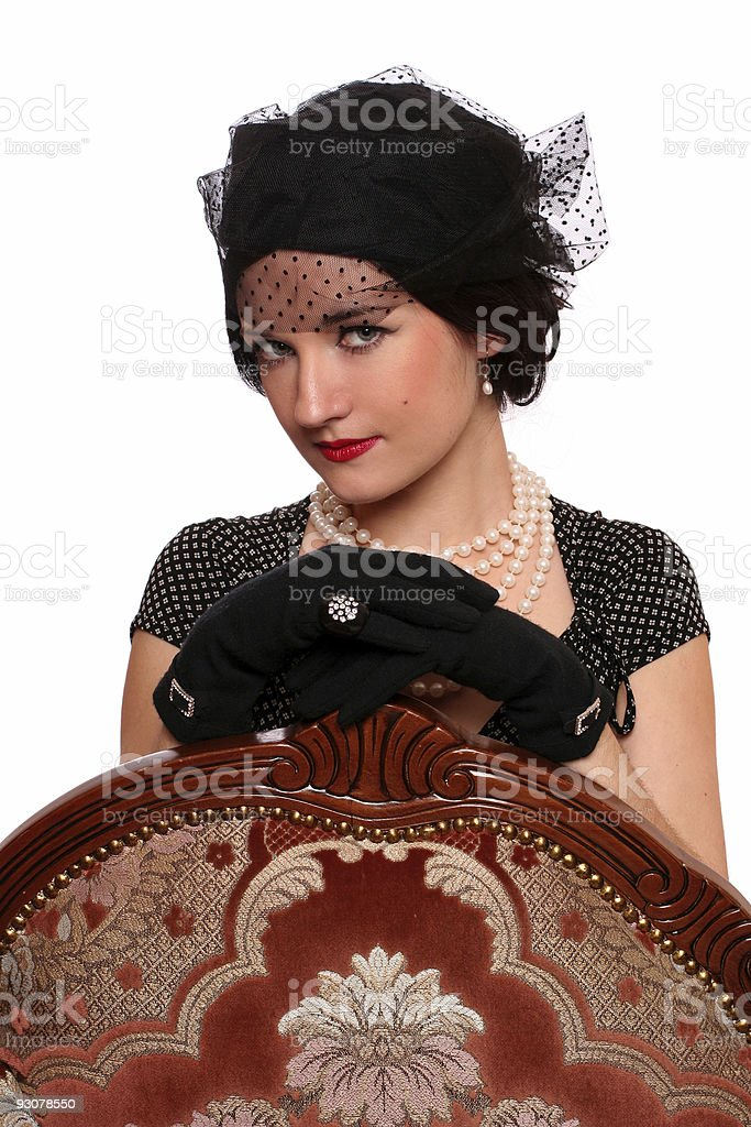 classic portrait of a woman royalty-free stock photo