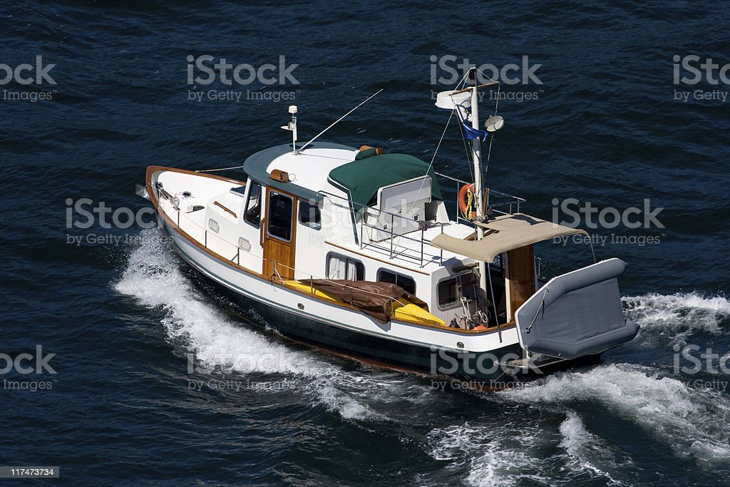 Classic Powerboat royalty-free stock photo