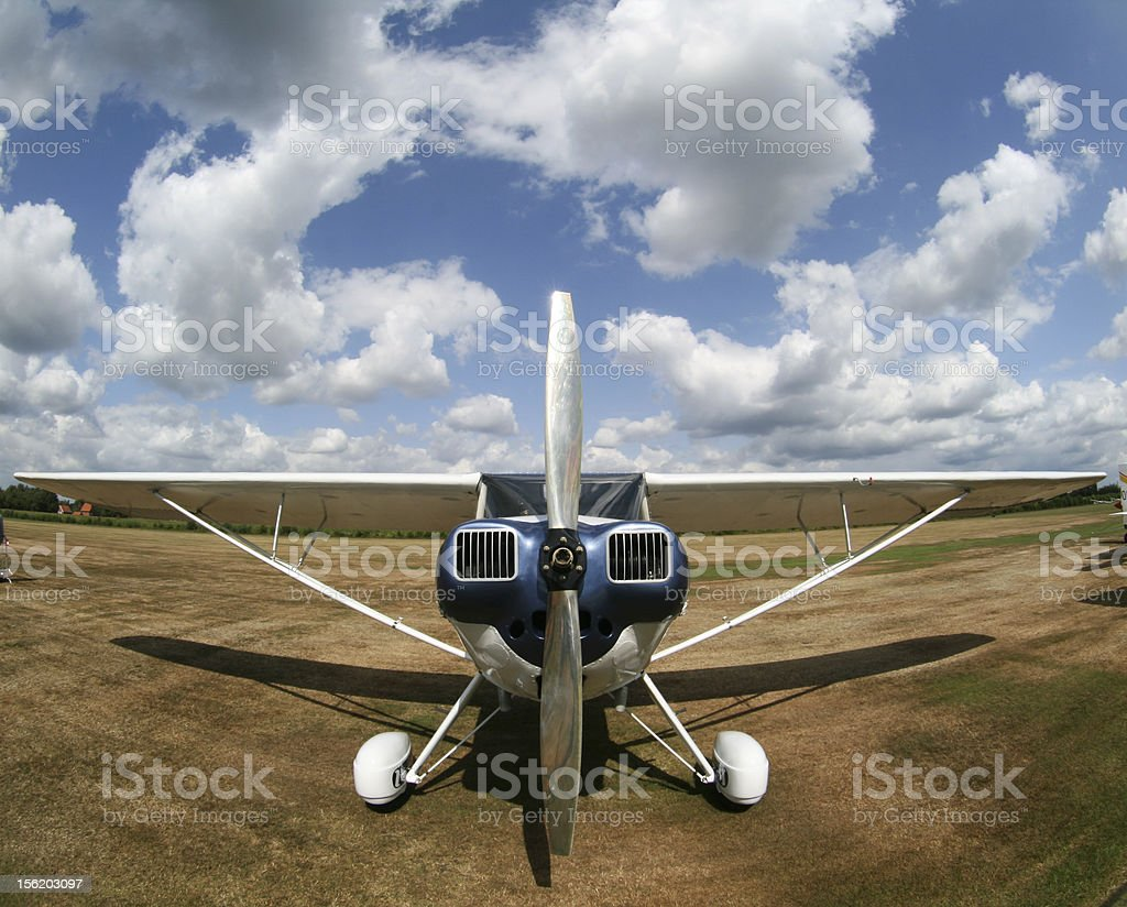 Classic private airplane royalty-free stock photo