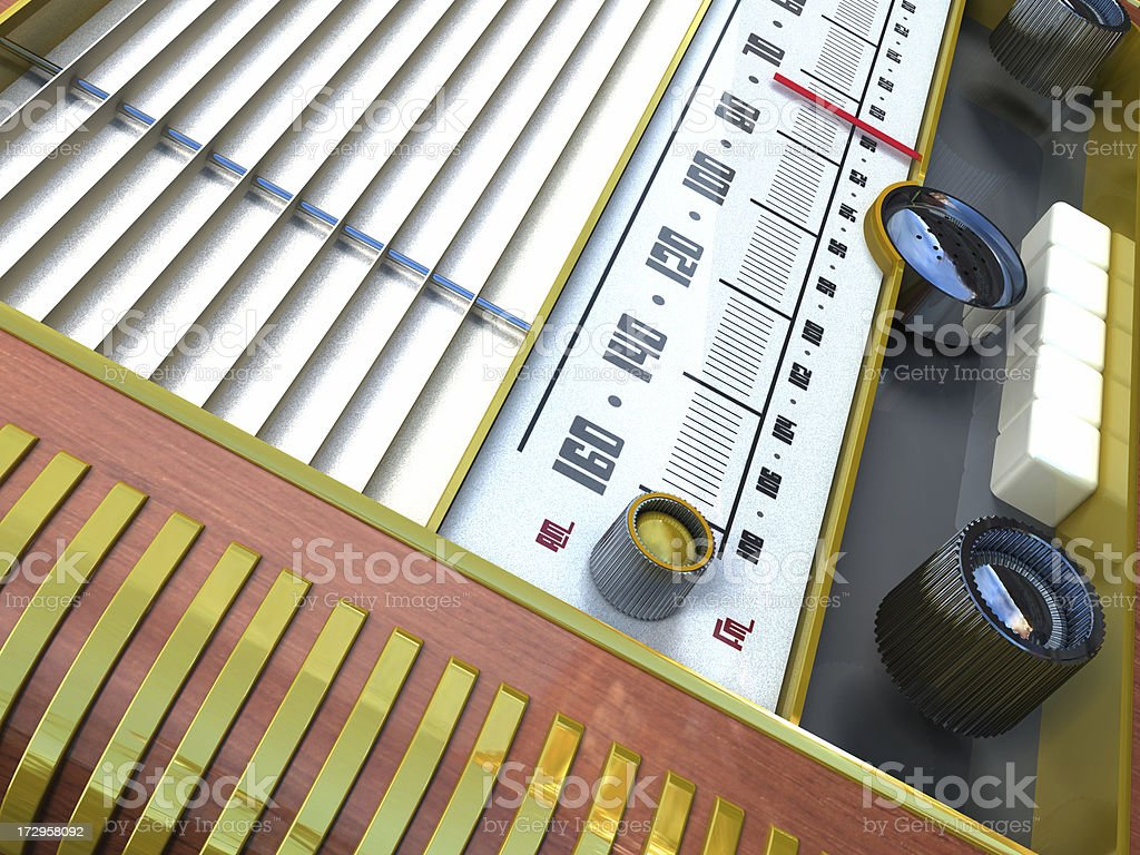 Classic radio background royalty-free stock photo