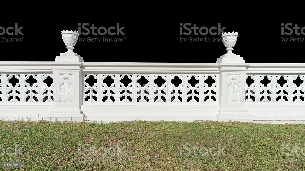 Classic railing with floor isolated stock photo