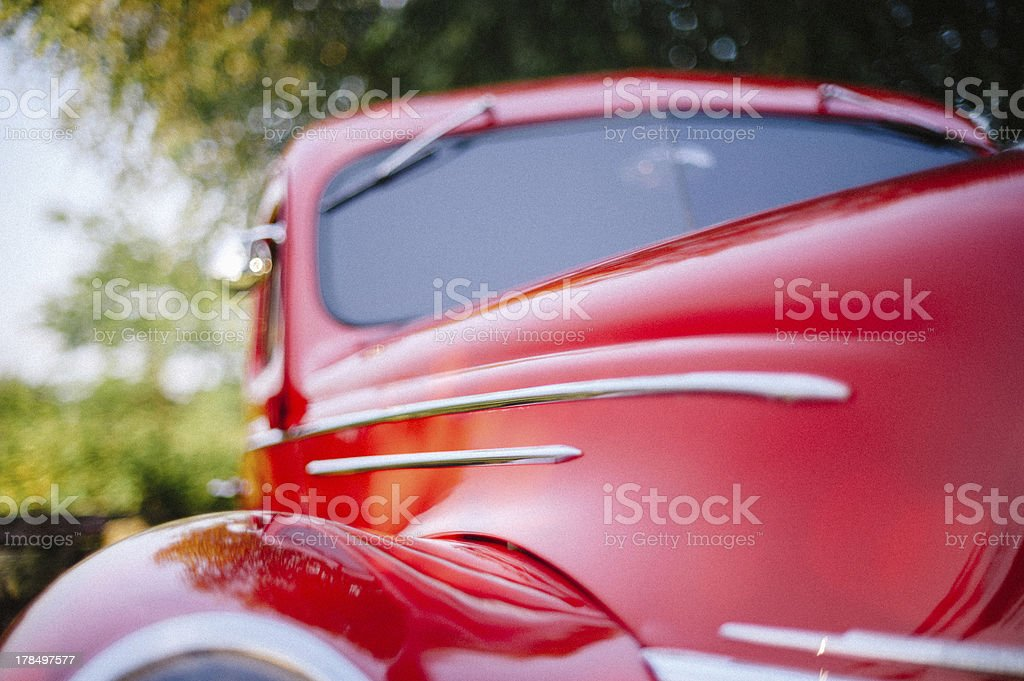 Classic Red Car royalty-free stock photo