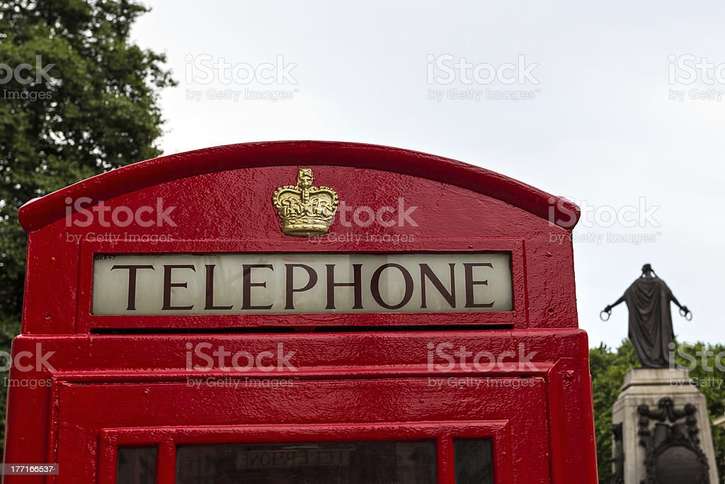 Classic red London Telephone booth royalty-free stock photo
