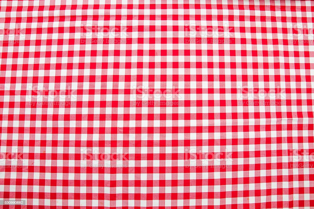 Classic Red Plaid stock photo