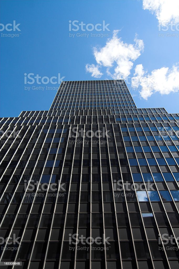 Classic Retro Style Skyscraper royalty-free stock photo