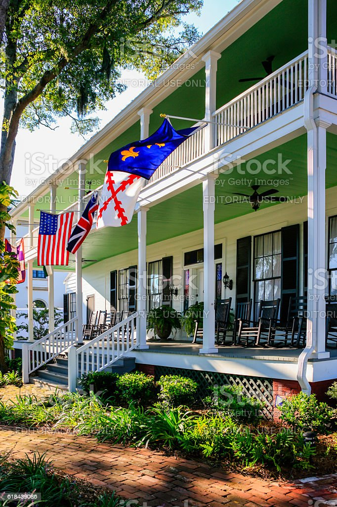 Classic Revival Lesesne House in Fernandina Beach City in Florida stock photo