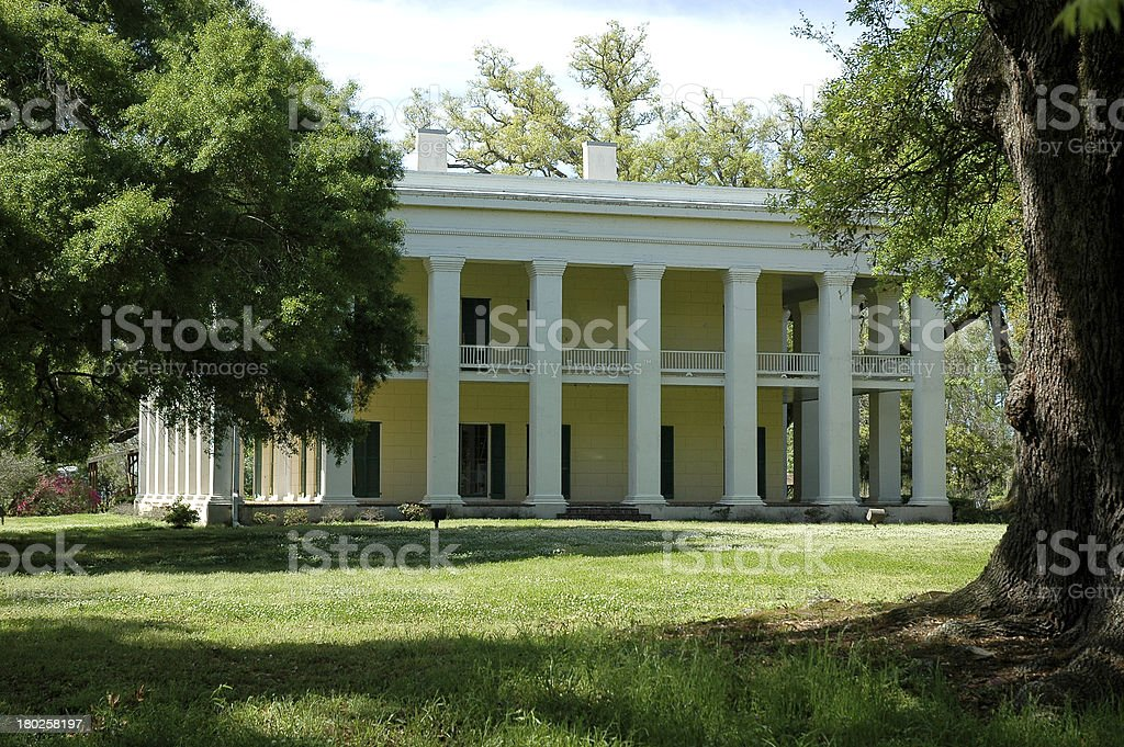 Classic Revival Mansion stock photo