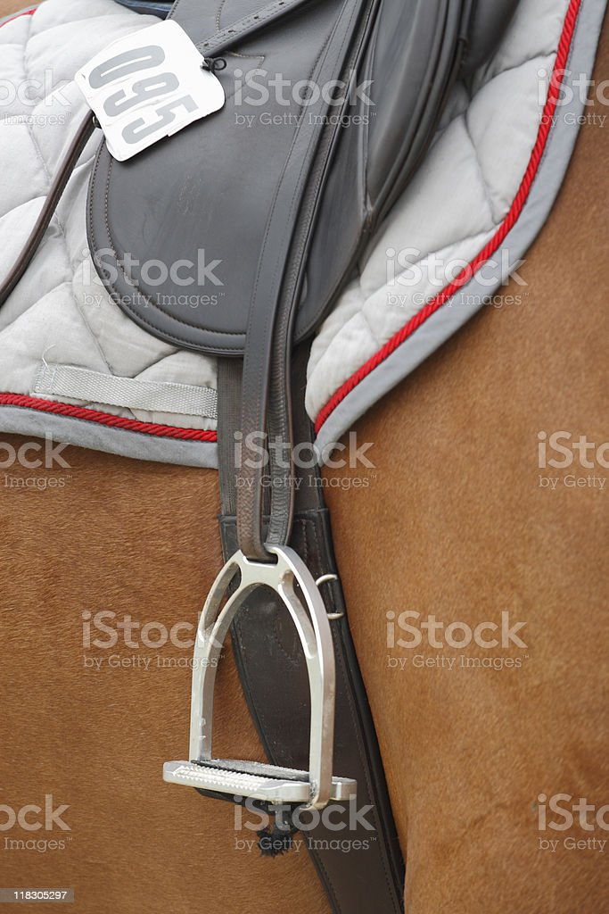Classic Riding Saddle royalty-free stock photo