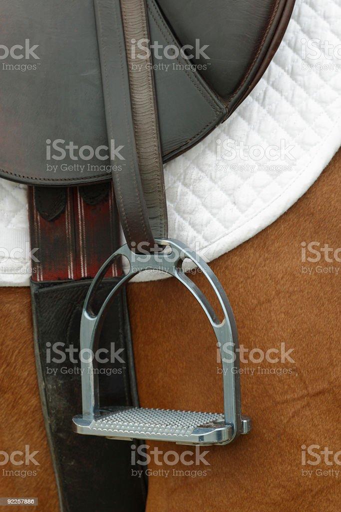 Classic Riding Saddle stock photo