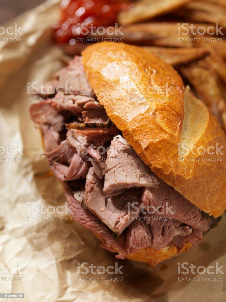 Classic Roast Beef Sandwich royalty-free stock photo