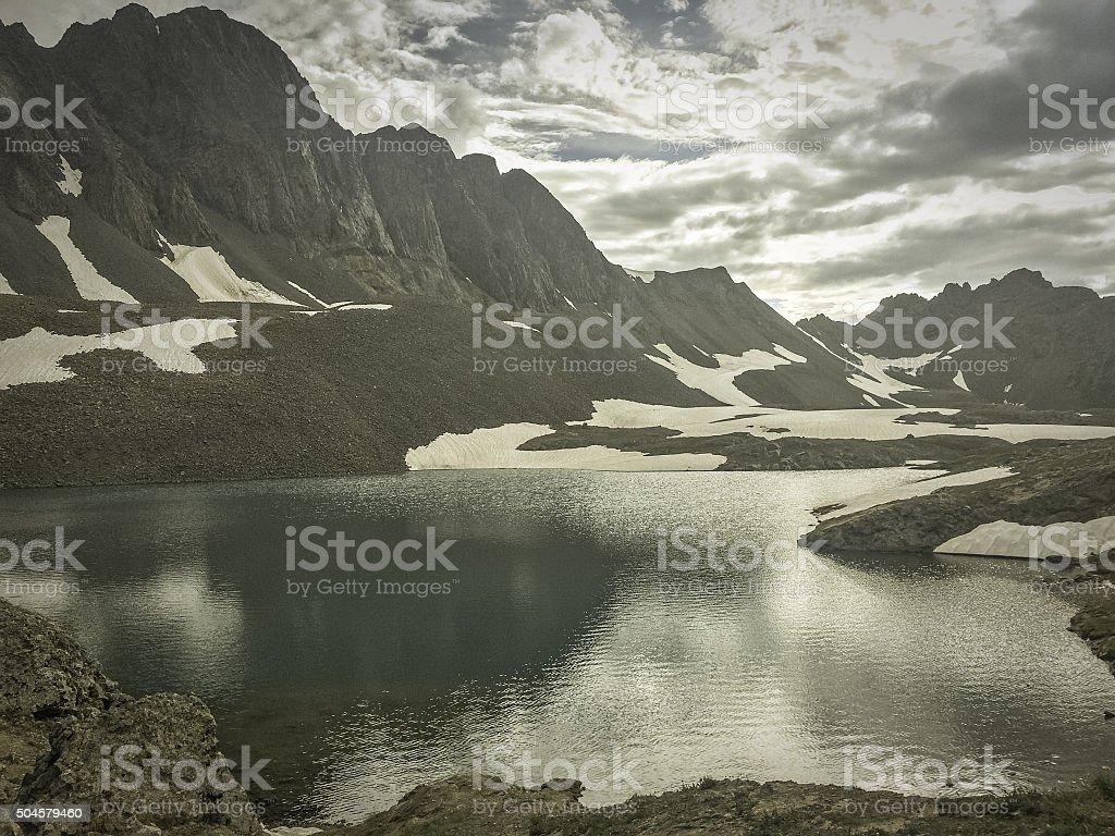classic rocky mountain landscape stock photo