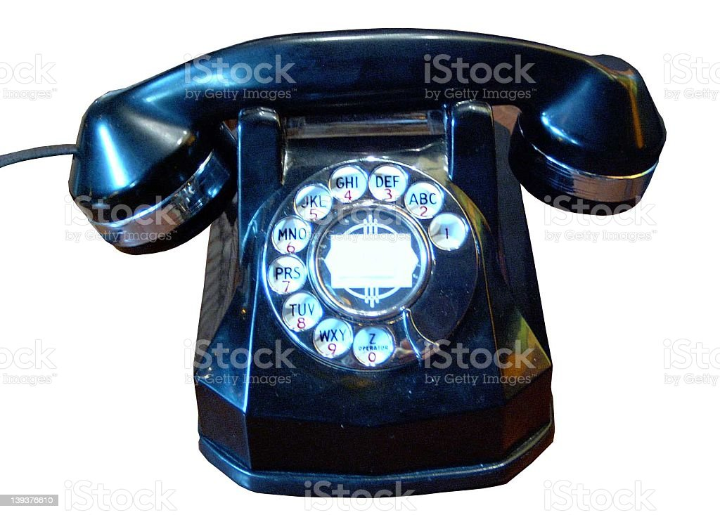 Classic Rotary Phone royalty-free stock photo