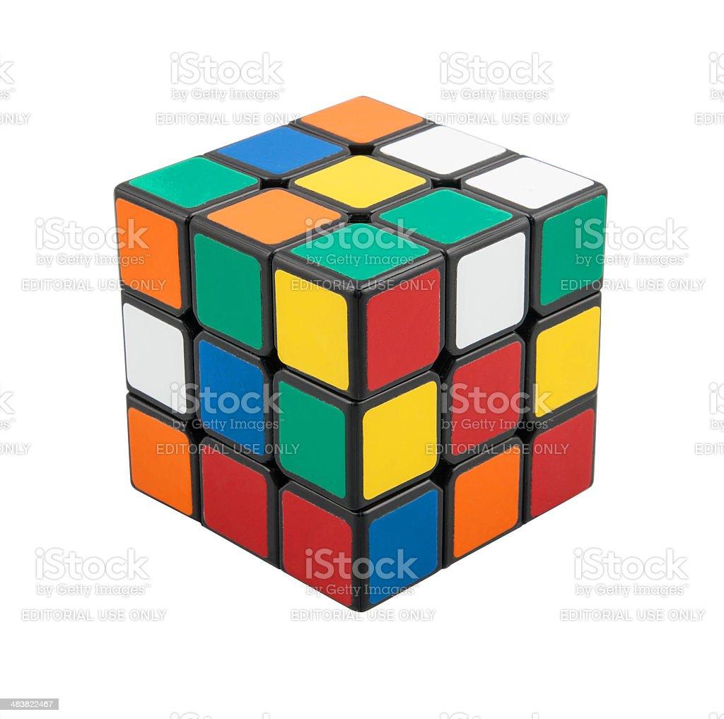 Classic Rubik's Cube stock photo