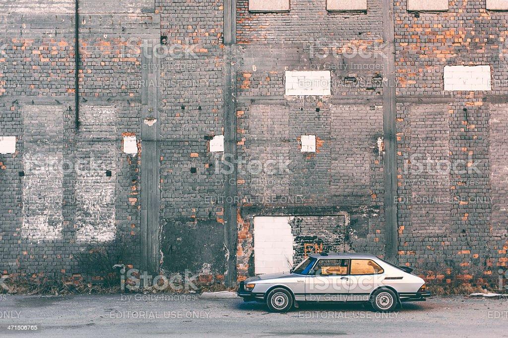 Classic Saab. stock photo