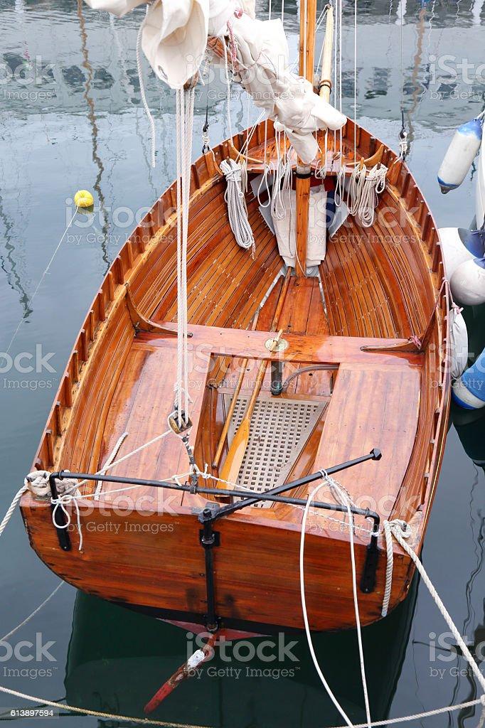 Classic sailboat stock photo