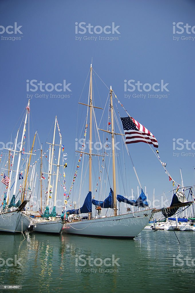 Classic Sailboats royalty-free stock photo