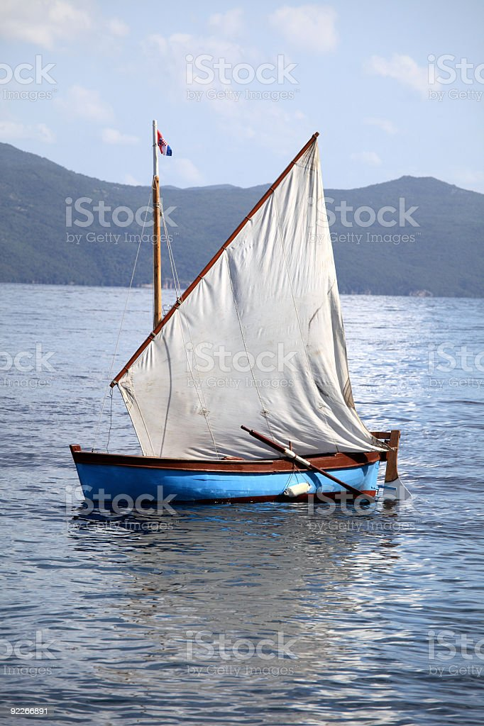 Classic sailing boat stock photo