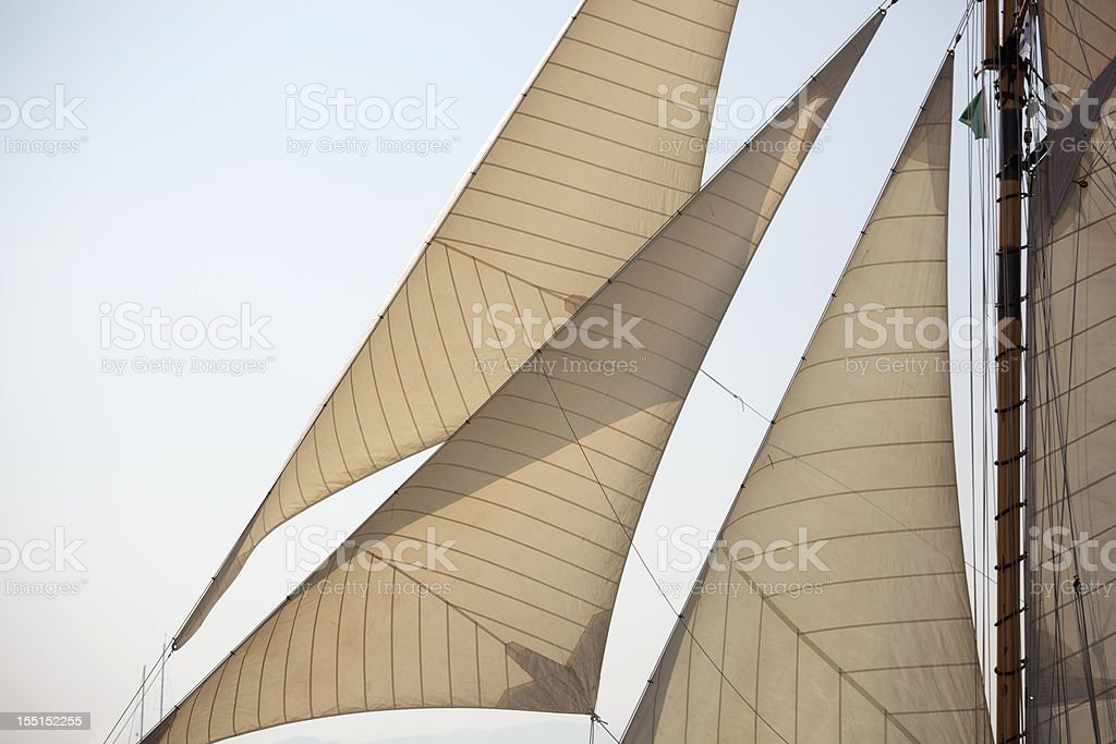 Classic sails stock photo