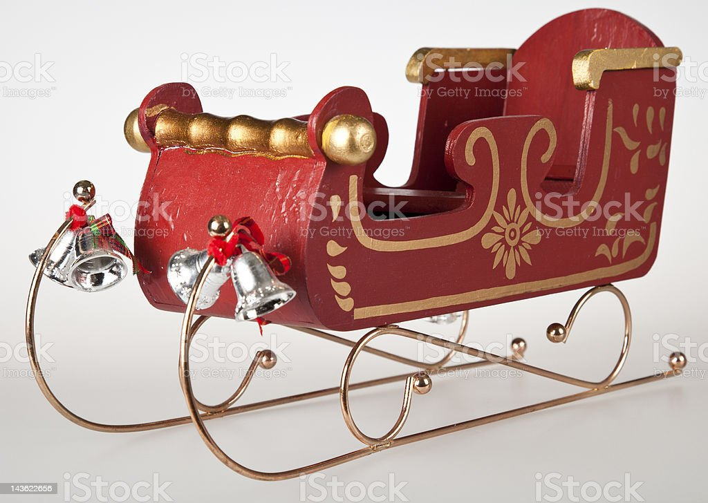 Classic Santa Sleigh stock photo