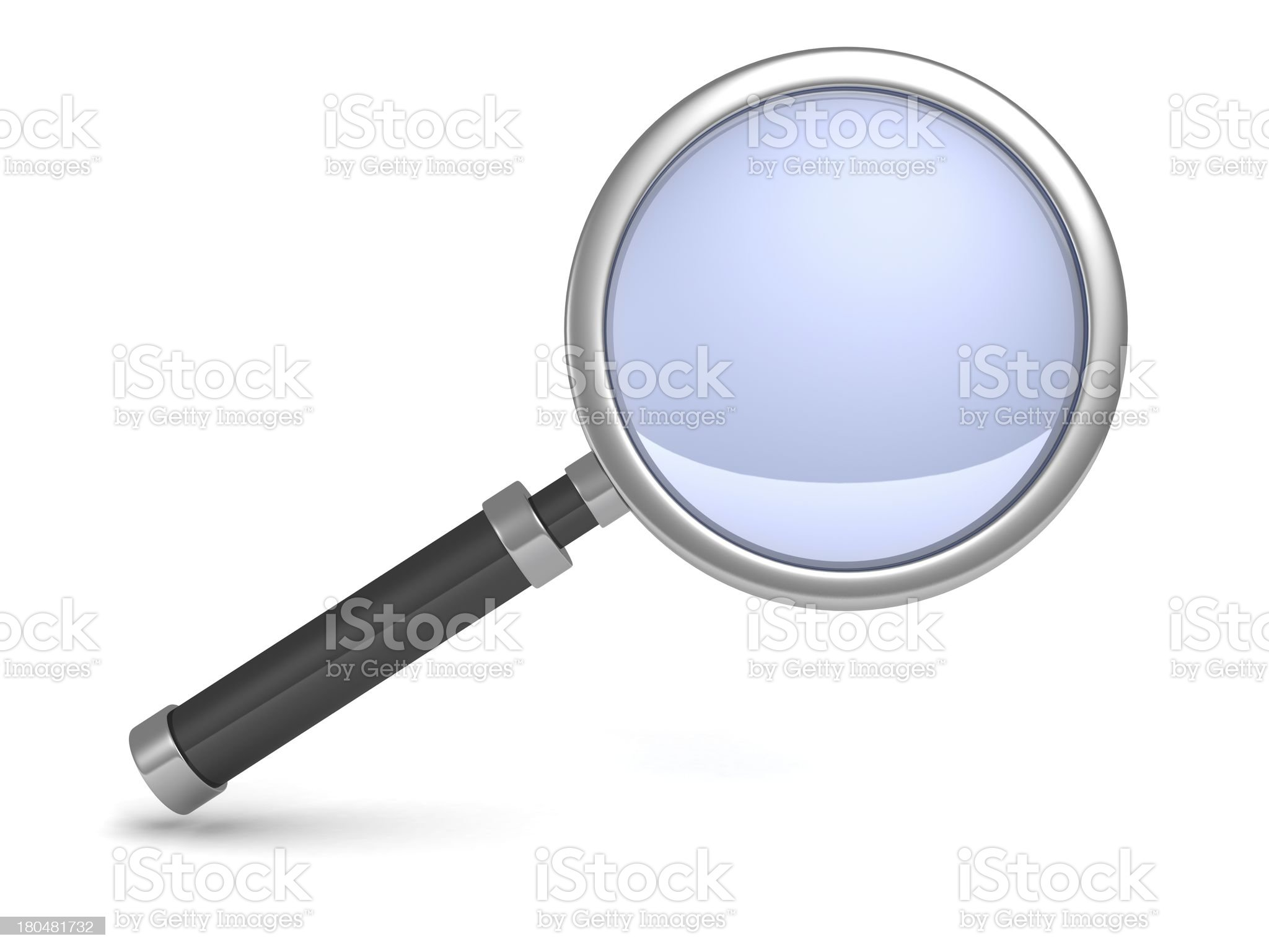 classic science magnifying glass icon on white royalty-free stock photo