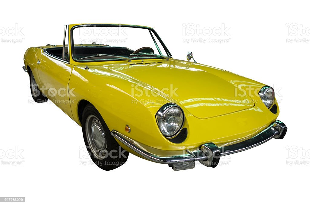 Classic Seat 850 sport coupe convertible stock photo