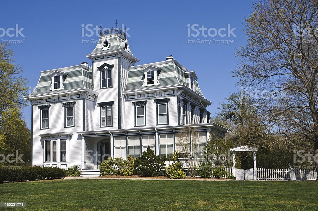 Classic Second Empire Style Home stock photo