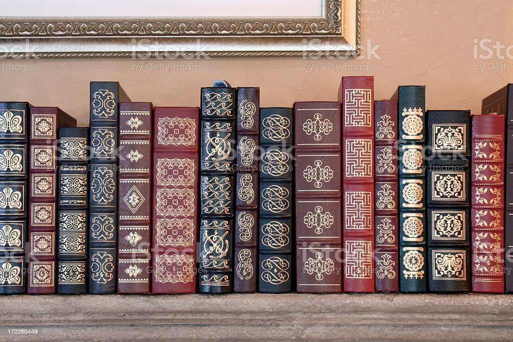 Classic Set of Books royalty-free stock photo