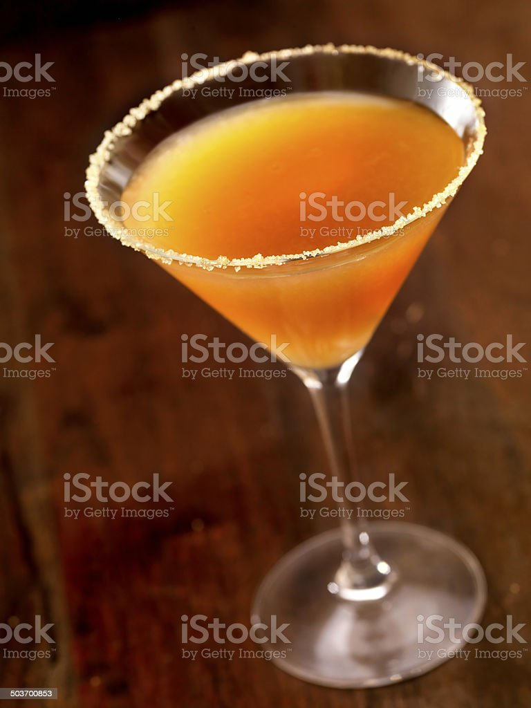 Classic Sidecar Cocktail stock photo