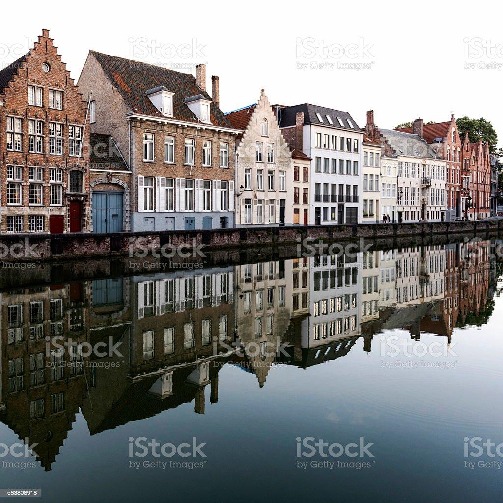 Classic sights of Bruges, Belgium stock photo