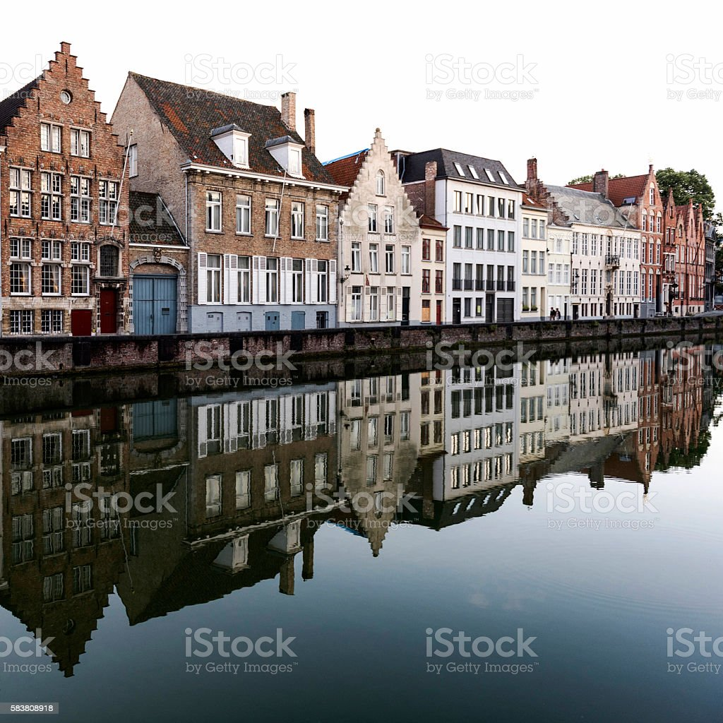 Classic sights of Bruges, Belgium stock photo