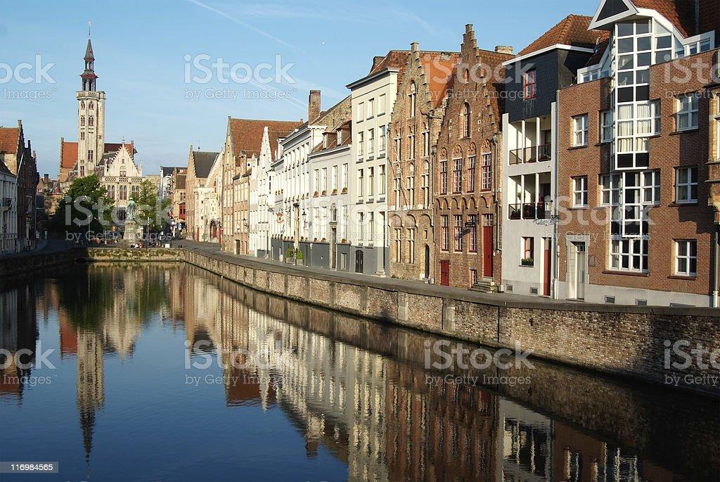 classic sights of Bruges (Belgium) stock photo