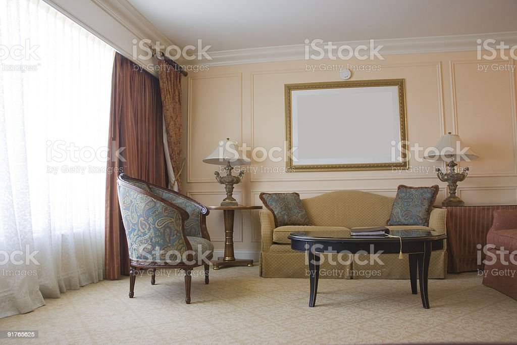 Classic sitting room royalty-free stock photo