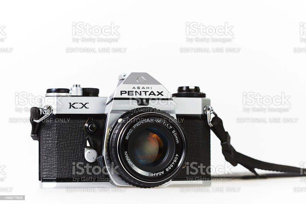 Classic SLR camera stock photo
